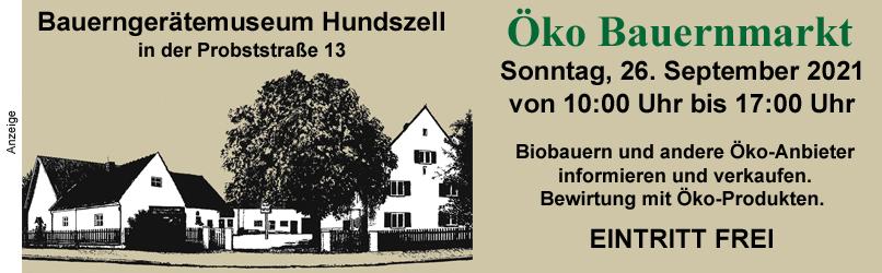 2021: Bauerngeraetemuseum Öko Bauernmarkt - OBEN
