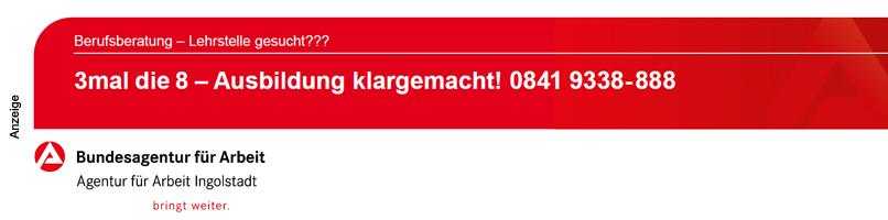 Agentur für Arbeit Ingolstadt - Azubis 2020 - Footer