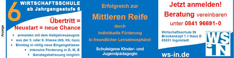 2020: Wirtschaftsschule Ingolstadt Anmeldung 2020 Top