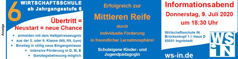 2020: Wirtschaftsschule Ingolstadt Infotag 2020 Top 2