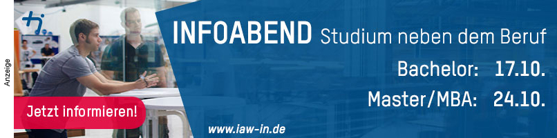 THI / IAW - Infoabend bis 24.10.2019